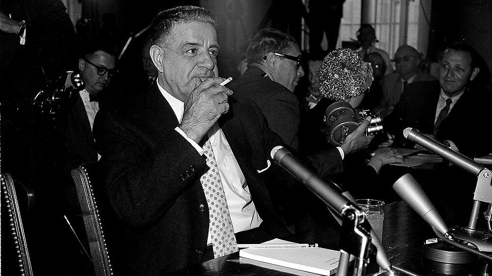 В 1963 году Джо Валачи (на фото) стал первым представителем мафии, который публично признал ее существование, а также предоставил подробную информацию о ее внутренней работе