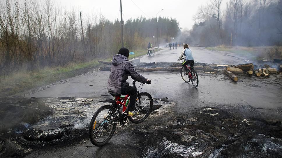 13 апреля. Дорога на въезде в город Славянск