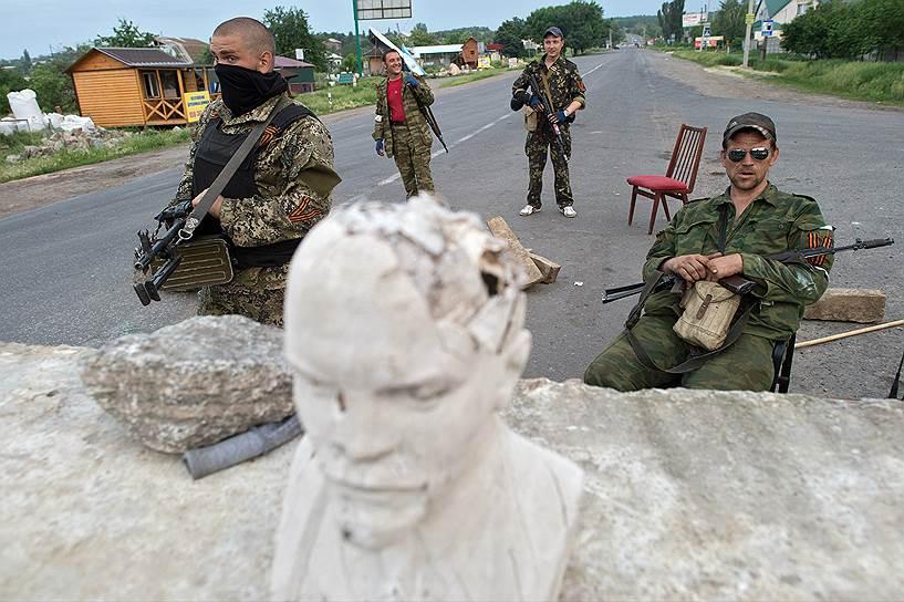 19 мая народные ополченцы на блокпосту