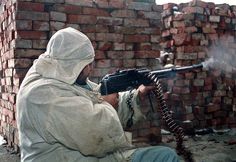 1995 год. Участник чеченских вооруженных формирований во время боев в Грозном