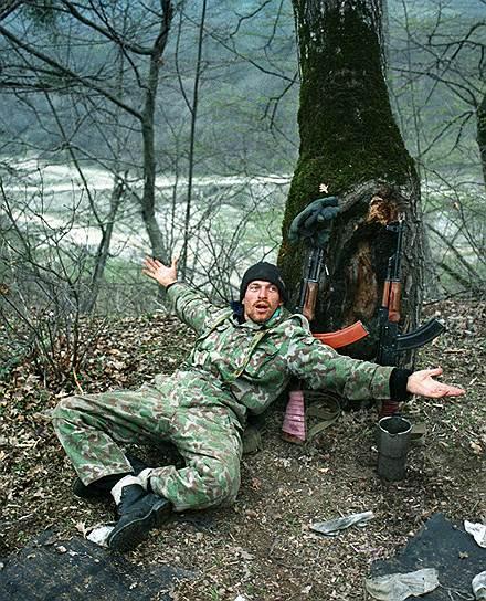1995 год. Лагерь чеченских вооруженных формирований в горах на юге Чечни