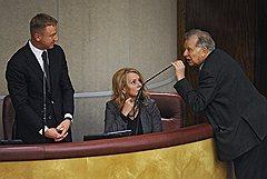 Жорес Алферов (справа) обвинил Дмитрия Ливанова (слева) в уничтожении Академии наук