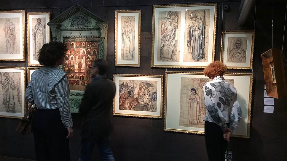 Цикл эскизов Михаила Нестерова для церкви в Абастумани зрители увидели второй раз за сто с лишним лет
