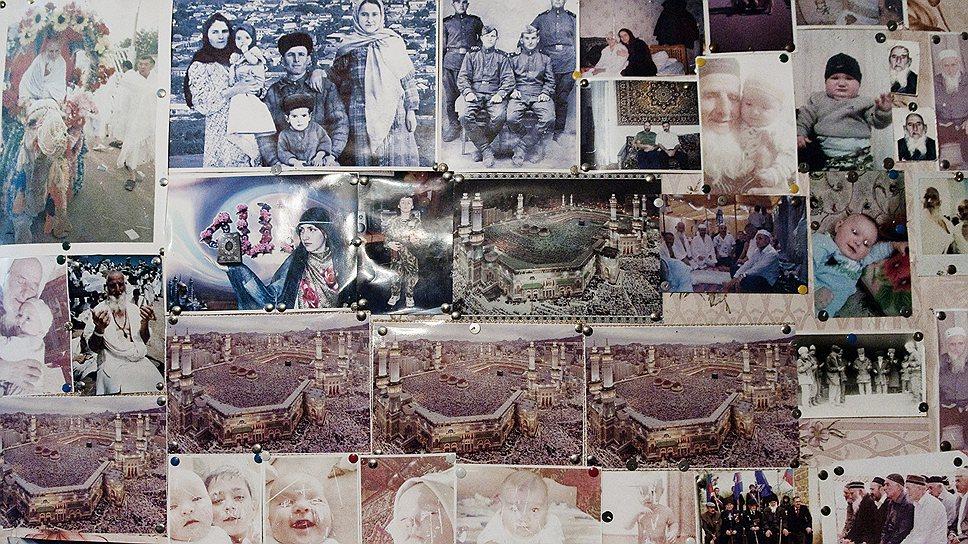 Фотографии над кроватью 90-летнего Загирхана Абуязидова рассказывают об истории его семьи