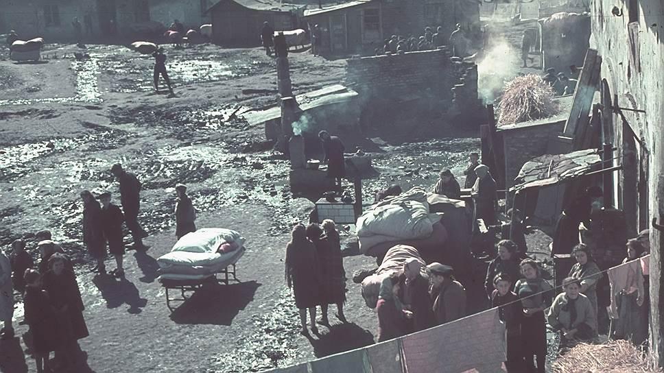 Еврейское гетто в городе Кутно, Польша, начало 1940 года