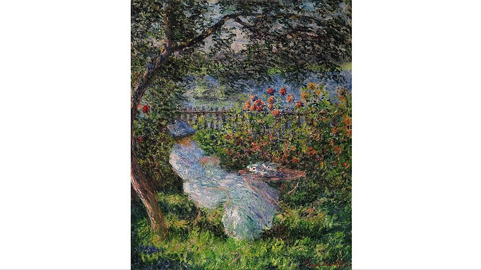 """Клод Моне. """"Алиса Ошеде в саду"""", 1881 год"""