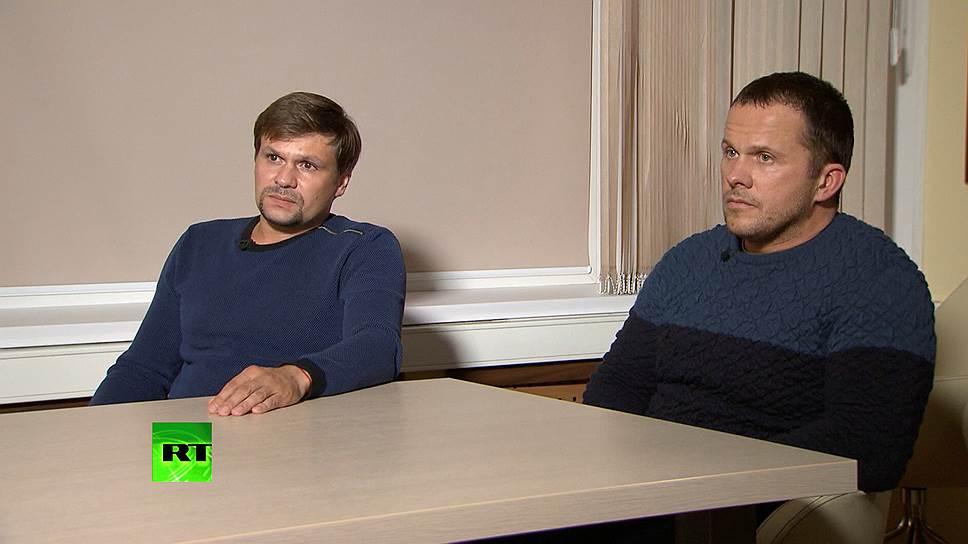 """Собеседники """"Ъ FM"""" смотрят первое интервью подозреваемых в отравлении Скрипалей"""