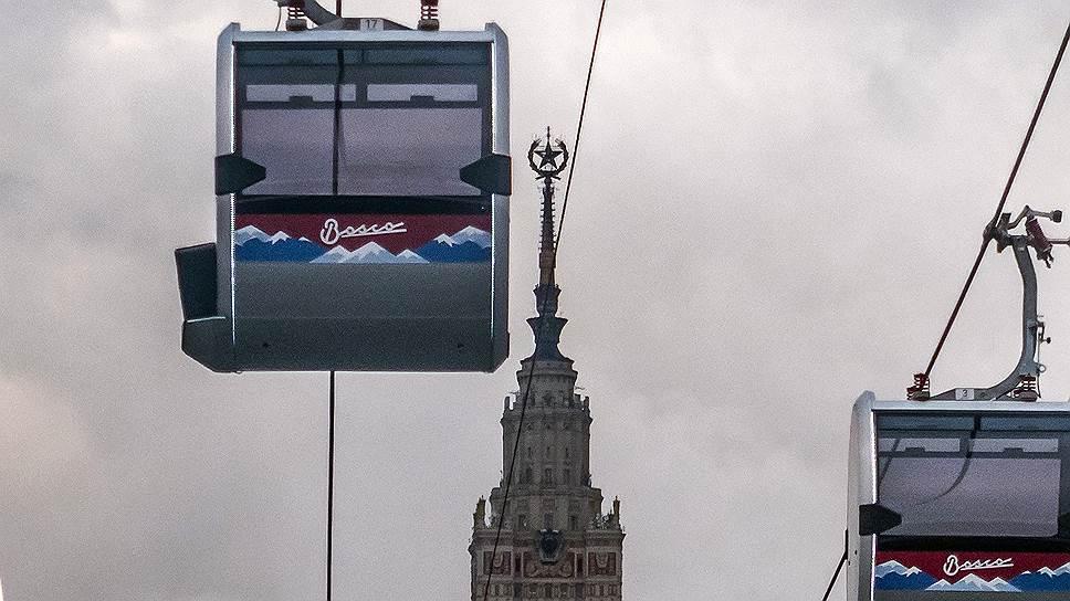 Как канатной дороге в Москве включили красный свет