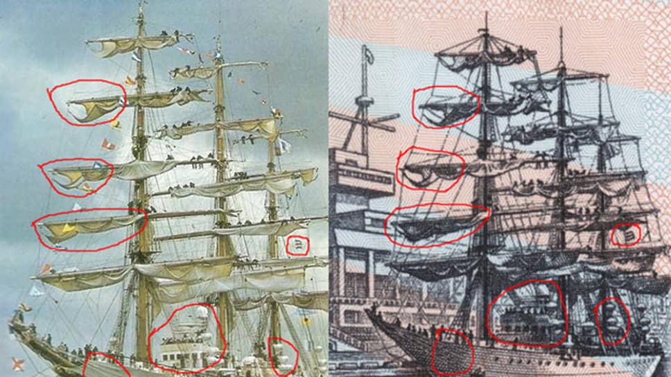 Правда ли, что на российской 500-рублевой купюре изображен аргентинский военный корабль?