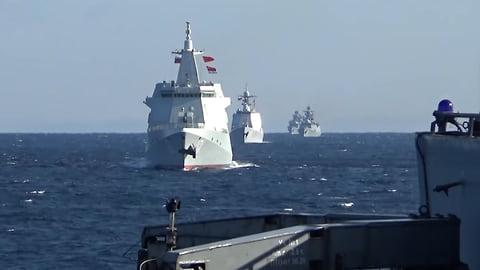 Корабли России и Китая впервые провели совместное патрулирование в Тихом океане