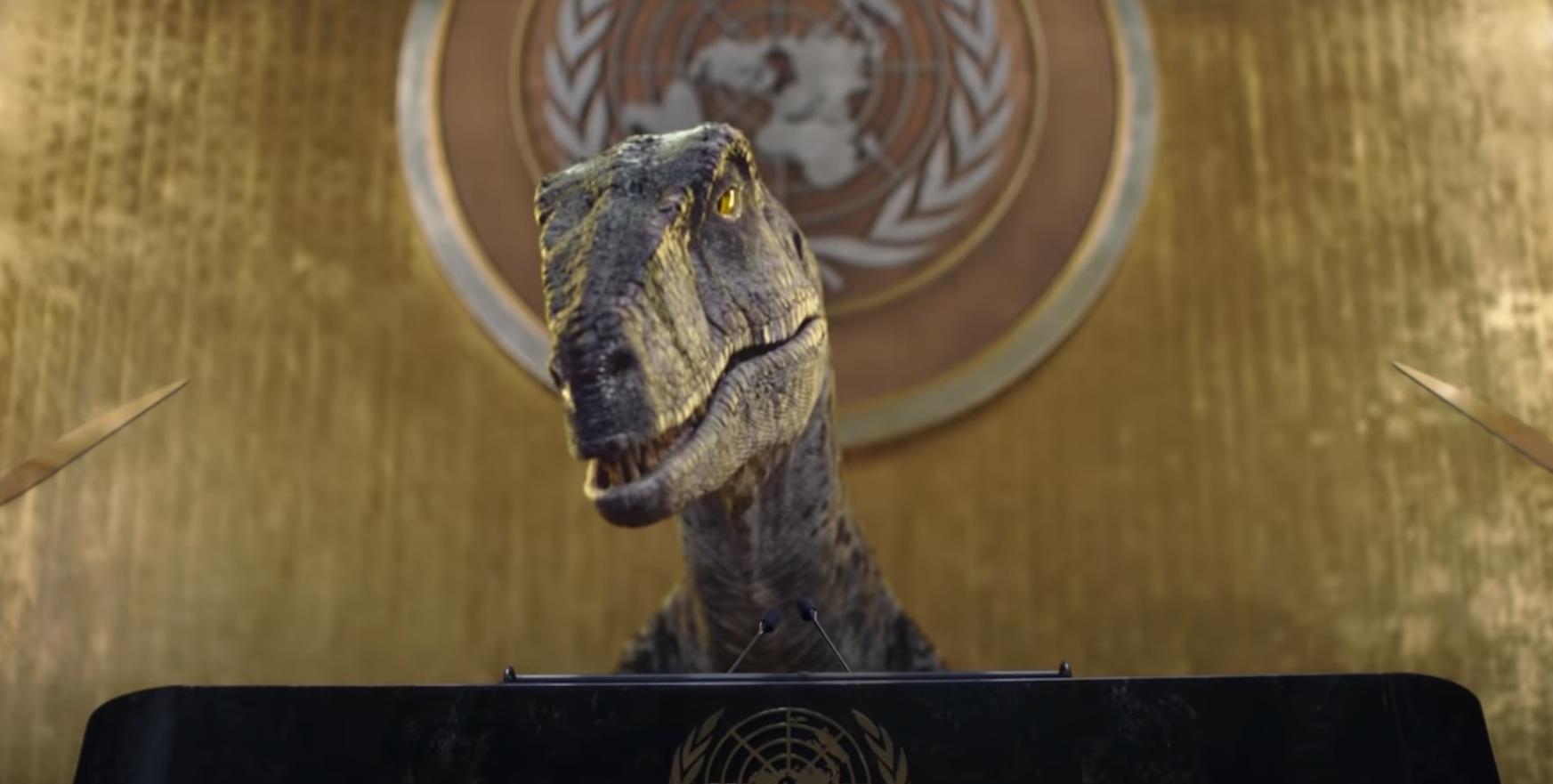 Динозавр с трибуны Генассамблеи ООН призвал бороться с изменением климата