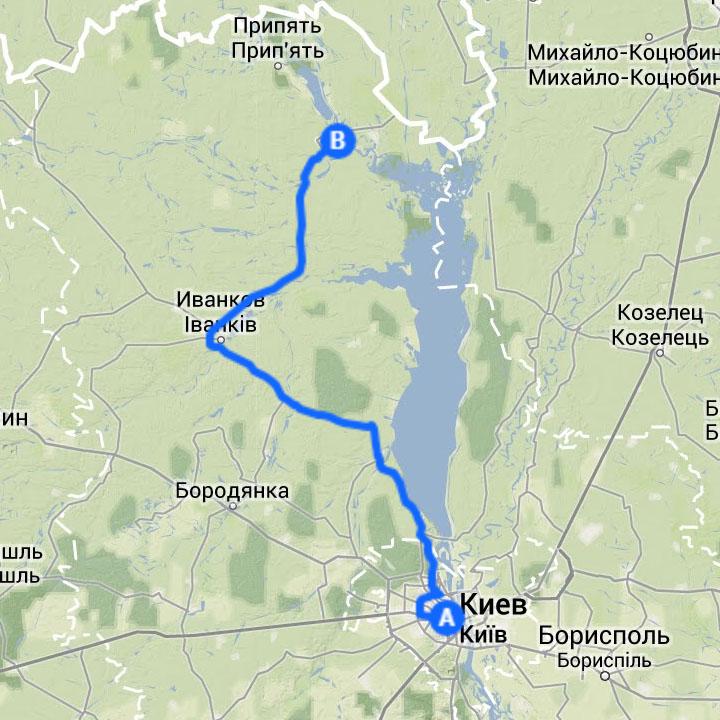 Из Киева до Чернобыльской зоны отчуждения