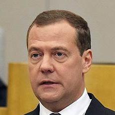 Дмитрий Медведев, премьер-министр РФ, в январе 2018 года