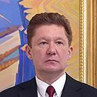 Alexey Miller, head of Gazprom, at a meeting with Russian President Vladimir Putin, January 19