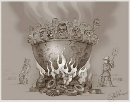 Карикатура украинского художника Юрия Журавеля (2014 год)
