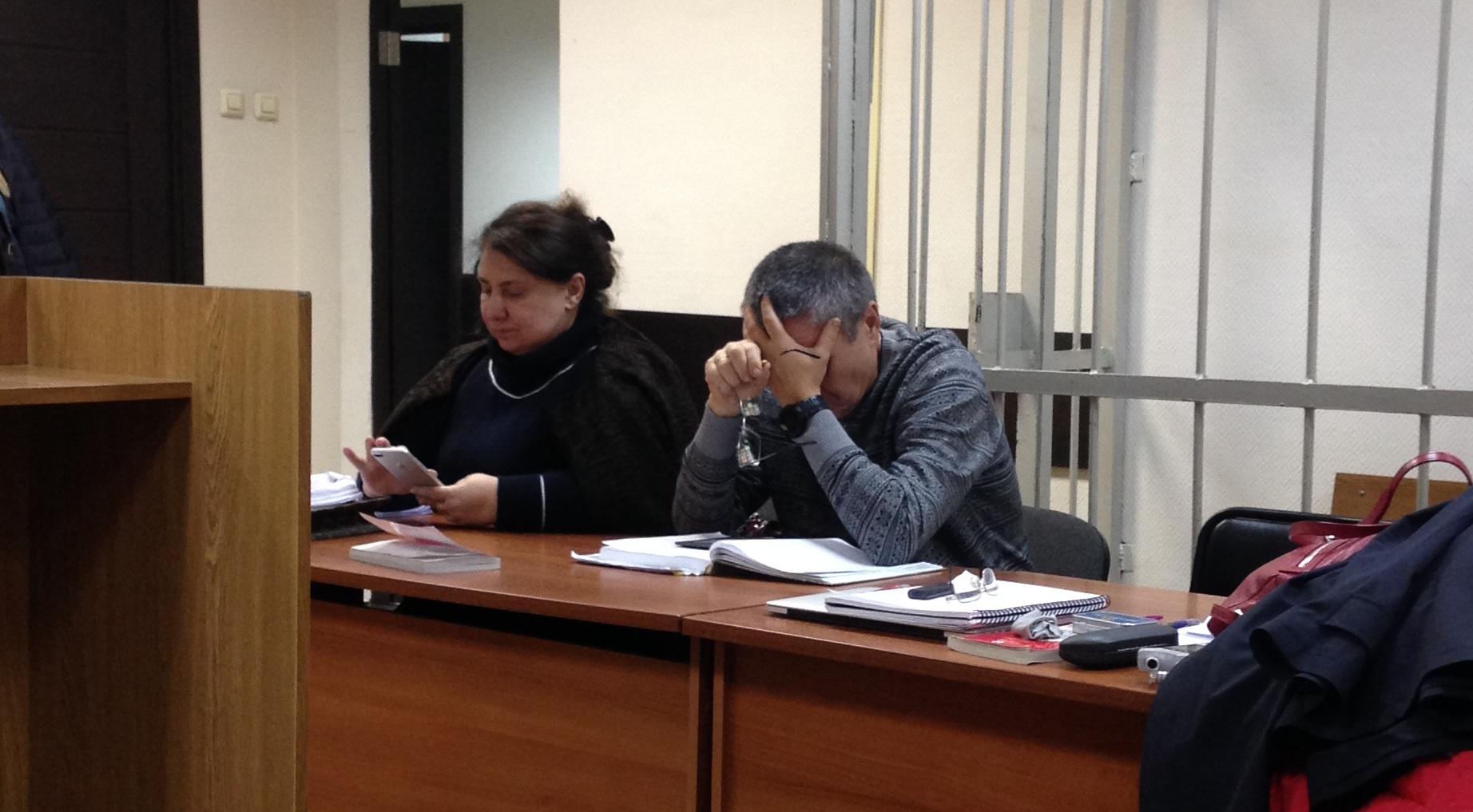 Адвокат Дареджан Квеидзе и подсудимый Алексей Улюкаев