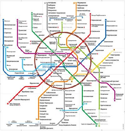 Карта московского метро Студия