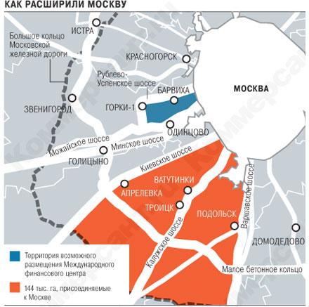 Москву возводят в квадраты Президента ознакомили с новыми границами города и области.