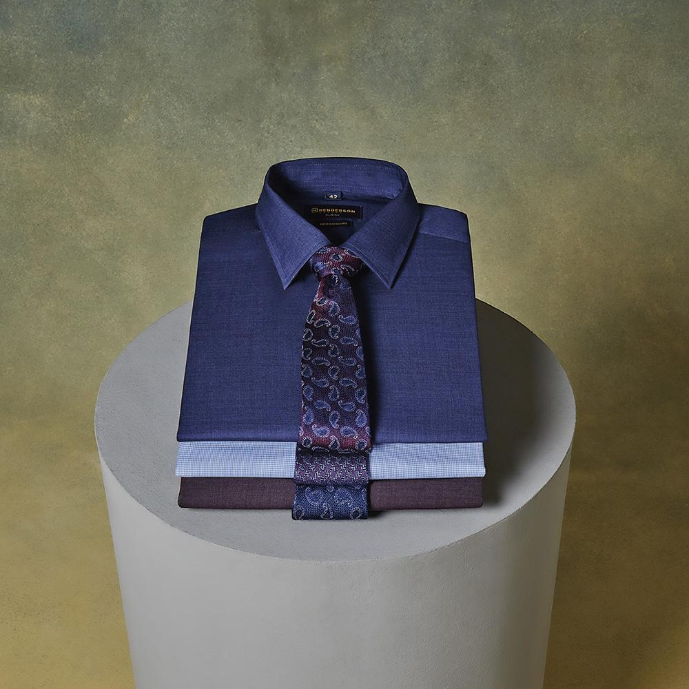 Премиальная линия рубашек HENDERSON из 100% шерсти