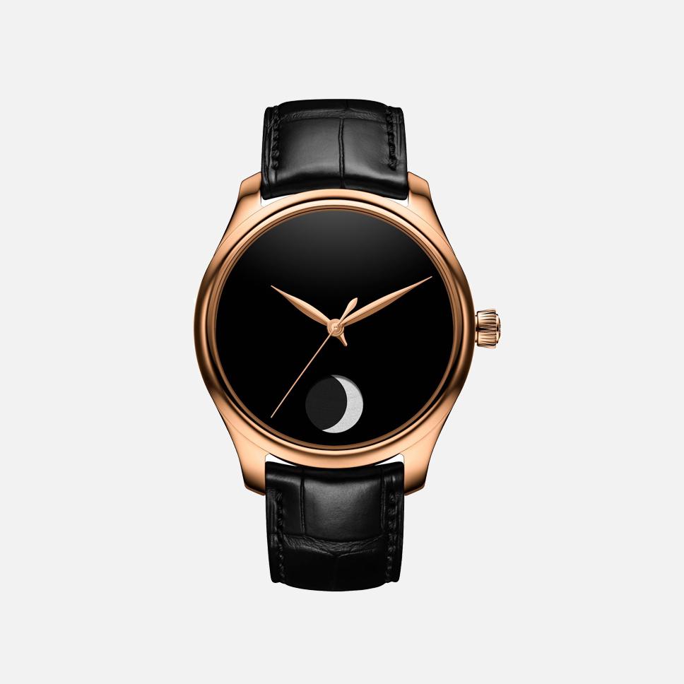 H. Moser & Cie., часы Endeavour Perpetual Moon Vanta Black Only Watch