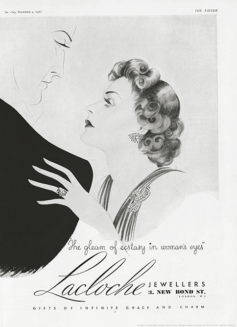Реклама Lacloche в «The Tatler», 1936 год