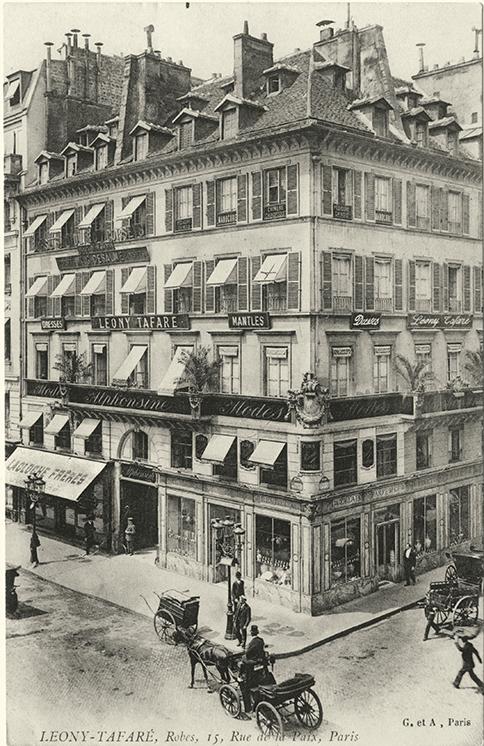 Открытка с видом на бутик  Lacloche на Рю де ля Пэ, 15 в Париже, около 1910 года