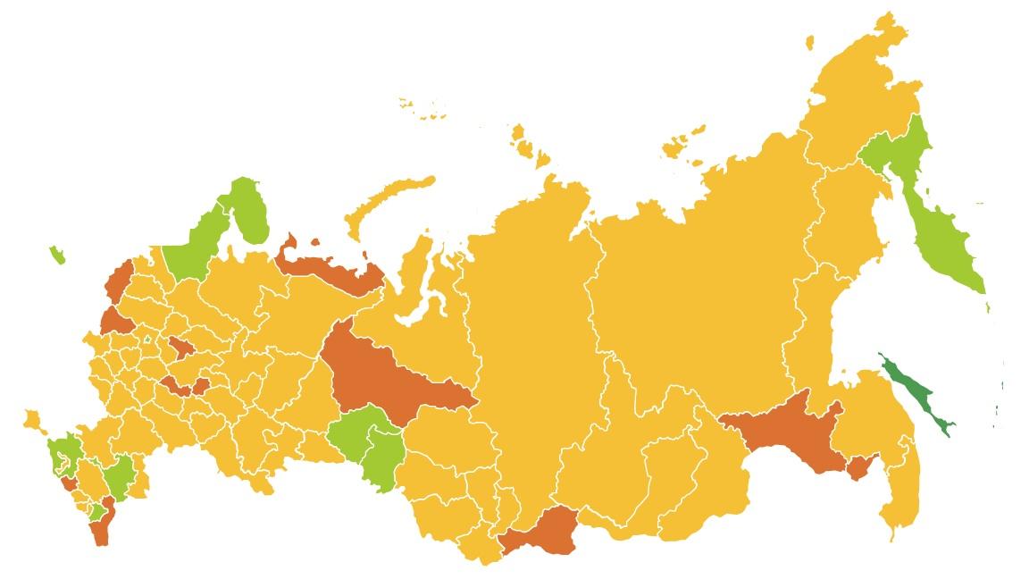 Карта выхода регионов из изоляции