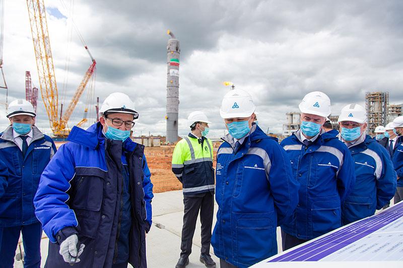 ЭП 600 посещение Р.А. Шигабутдиновым строительной площадки, 25.06.2020