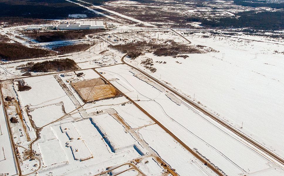Площадь будущего комплекса — 140 га. Новое производство будет расположено рядом с существующим литейно-прокатным комплексом ОМК.