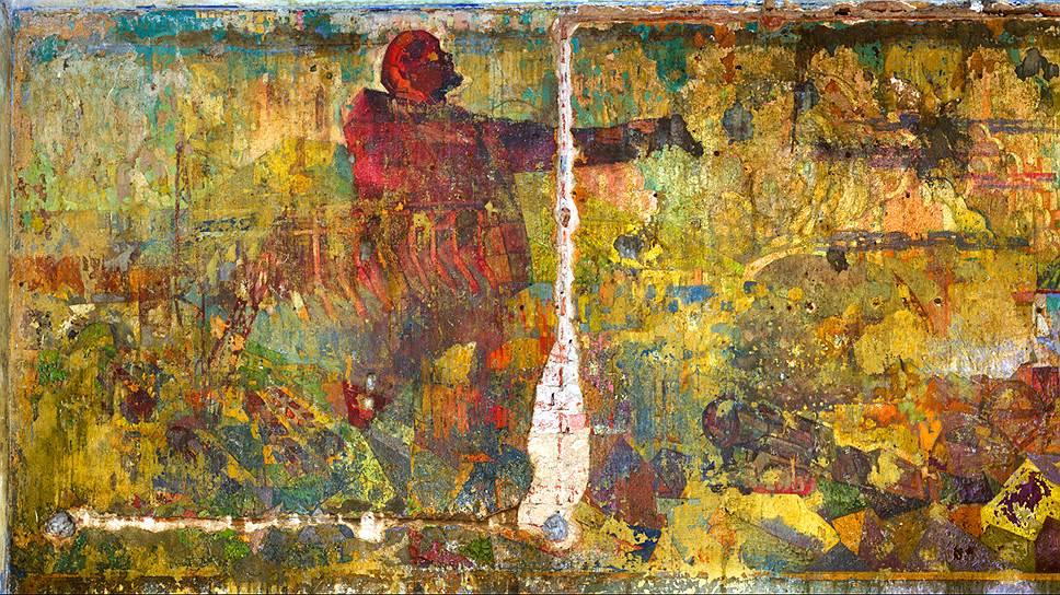 """Фреска """"Земо-Авчальская ГЭС"""" в Болшевском доме-коммуне, 1930-1931 годы"""
