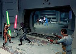 Определить жанр «Star Wars: Knight of The Old Republic» невозможно — это и ролевая игра, и стрелялка с элементами пошаговой стратегии