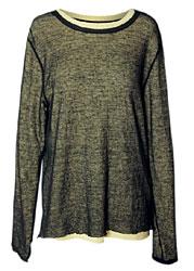 Фуфайка из смеси хлопка и льна, Yohji Yamamoto (James, с учетом скидки 50% — 12 950 руб.)