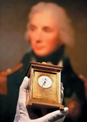 Часы адмирала Нельсона, бывшие при нем в Трафальгарской битве, могут быть проданы за $640 тыс. Sotheby`s, 5 октября