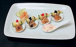"""""""НКонг""""Террин из плавников акулы с грибами и соусом из крабового мяса и васаби можно попробовать только в """"НКонге""""."""