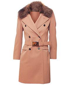 Пальто из шерсти, Prada. Воротник из меха лисы (Prada, 85 700 руб.)