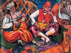 Михаил Ларионов. «В духане», 1910г. MacDougall`s, эстимейт £250–350 тыс.