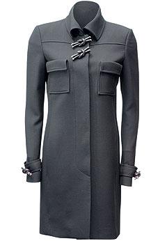 Пальто из шерсти, отделка из кожи, Balenciaga(ЦУМ, 85 900 руб.)