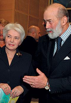 Наталья Солженицына и принц Кентский на благотворительном концерте Игната Солженицына в британском посольстве