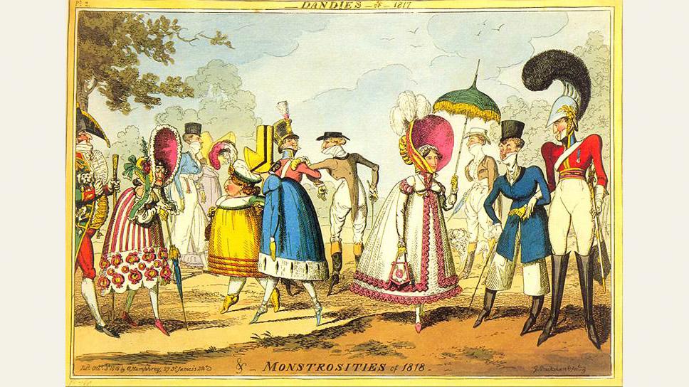 """Монструозность"". Карикатура, 1818 год"