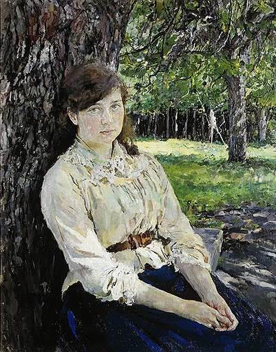 Валентин Серов. «Девушка, освещенная солнцем», 1888год