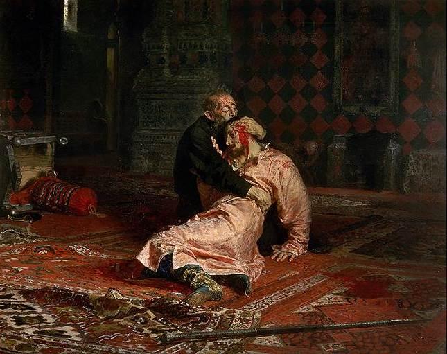 Илья Репин. «Иван Грозный убивает своего сына», 1885год