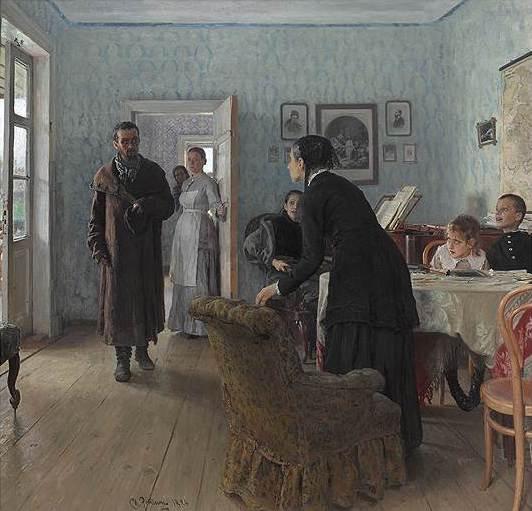 Илья Репин. «Не ждали», 1884-1888годы