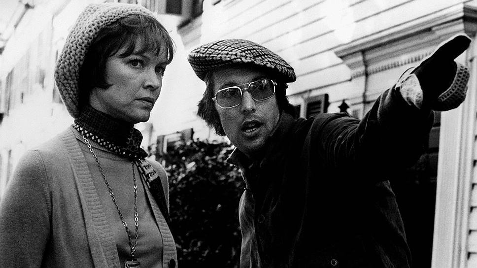 Эллен Бёрстин и Уильям Фридкин на съемках «Изгоняющего дьявола», 1973