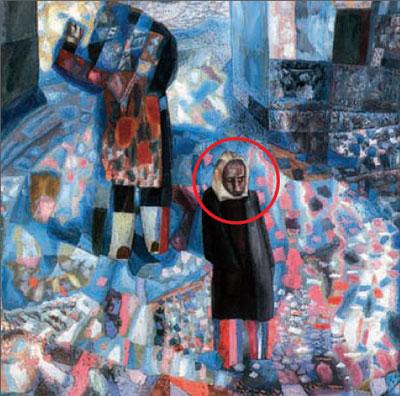 """Павел Филонов (1883-1941). """"Нарвские ворота"""" (фрагмент). Санкт-Петербург, Русский музей"""