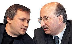 """За 2006 год капиталы владельцев компании """"ВБД продукты питания"""" заметно выросли. У Сергея Пластинина (слева) более чем вдвое, у Давида Якобашвили — почти втрое"""