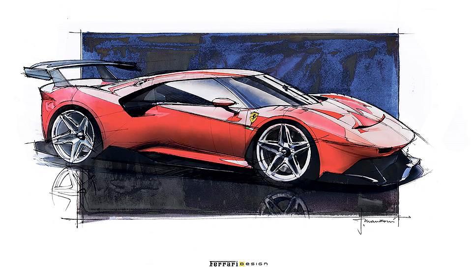 """Кузов Ferrari P80/C, как и положено автомобилю подобного уровня, выполнен целиком из углепластика, а его задняя ось на 50 мм отодвинута от кокпита по сравнению со стандартной """"четыреста восемьдесят восьмой"""", что, помимо прочего, придает очертаниям дополнительную стремительность."""