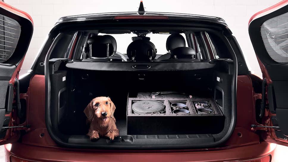 Просторный багажник нового MINI Clubman можно увеличить до 1250 литров и поместить туда не только коробку для собаки.