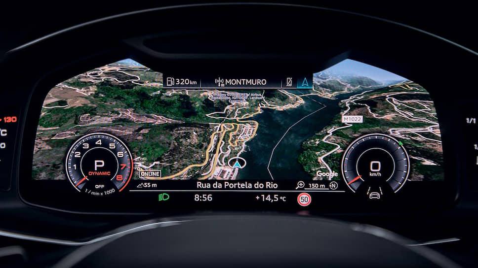 Virtual cockpit – полностью цифровая приборная панель с экраном диагональю 12,3 дюйма. Водитель настраивает изображение высокого разрешения Full HD 1920х720 пикселей с помощью мультифункционального рулевого колеса и может выбрать один из нескольких режимов отображения данных.