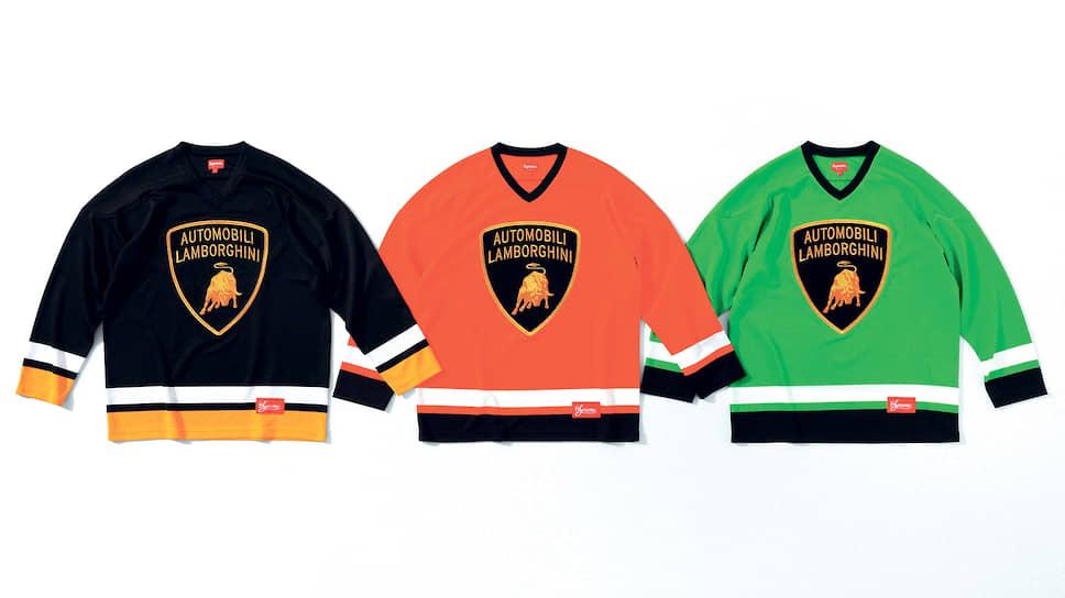 Цвета коллекции – неоновый зеленый, оранжевый и черный – отсылка к знаменитым автомобилям Lamborghini: Diablo, Murcielago и Aventador.
