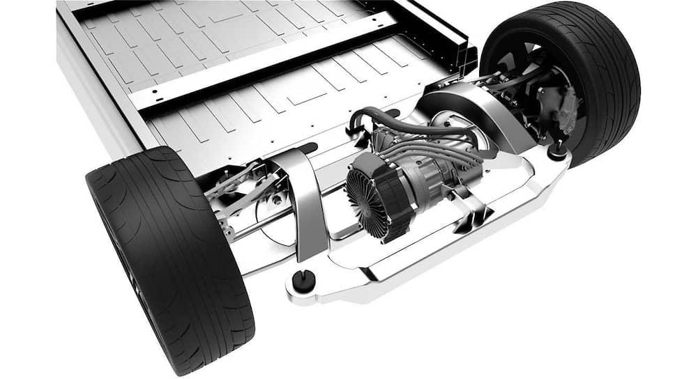 Один из самых привлекательных вариантов – мотор, встроенный в колесо. Мощность мотор-колес суммируется, а особенности их конструкции дают определенную степень свободы при конструировании подвески.